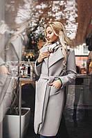 Женское стильное кашемировое пальто (норма и батал)