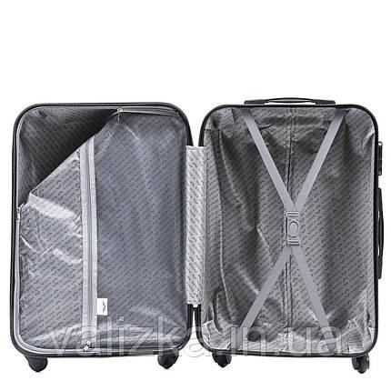 Большой пластиковый чемодан Wings на 4-х колесах фиолетовый, фото 2