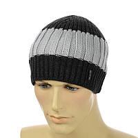 Мужская шапка 1*3*1 двухцветная