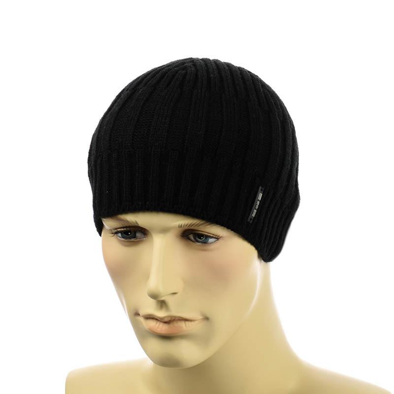 Мужская шапка 1*3*1 черный