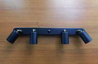 Настенный светильник, спот поворотный, потолочная лампа, на четыре лампы, черный цвет, фото 1