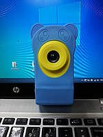 Цифровой фотоаппарат для детей digital camera голубой силиконовый чехол