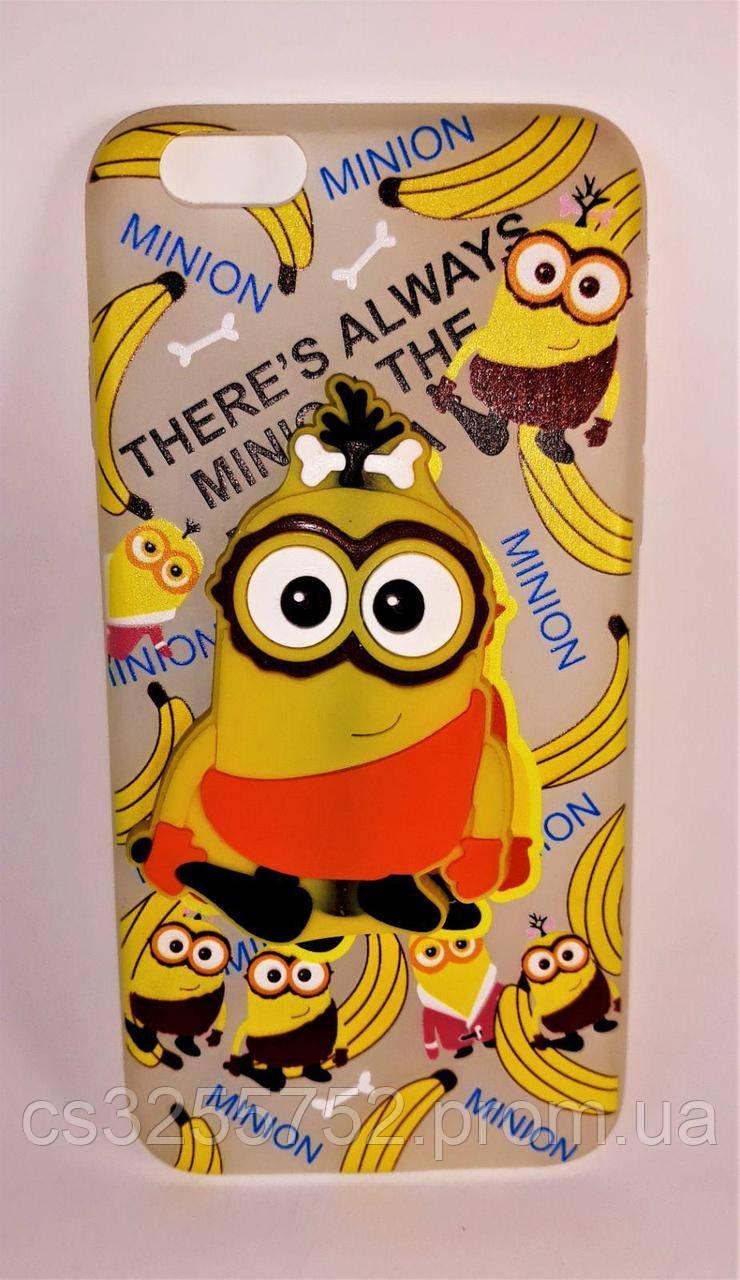 Силикон Andry Banana IPhone 6 (mix)
