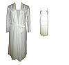 Белый комплект c кружевом халат и ночная рубашка, р. 44-46. Ahu Lingerie, Турция, фото 2