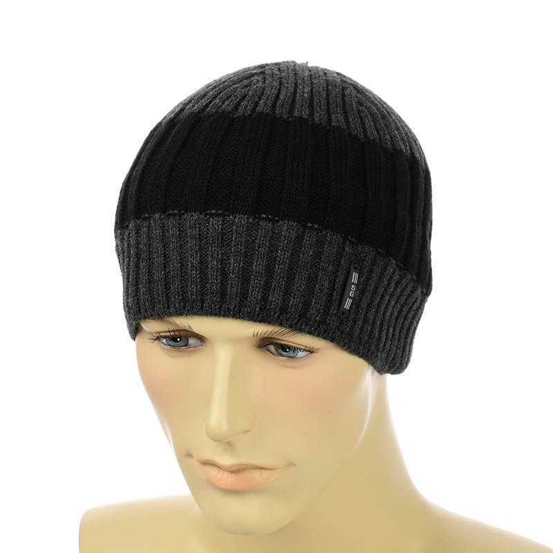 Чоловіча шапка 1*3*1 двоколірна