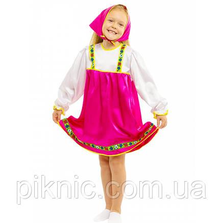 Карнавальный костюм Матрешка, Машенька для девочки 5,6,7,8 лет. Детский новогодний маскарадный 344, фото 2