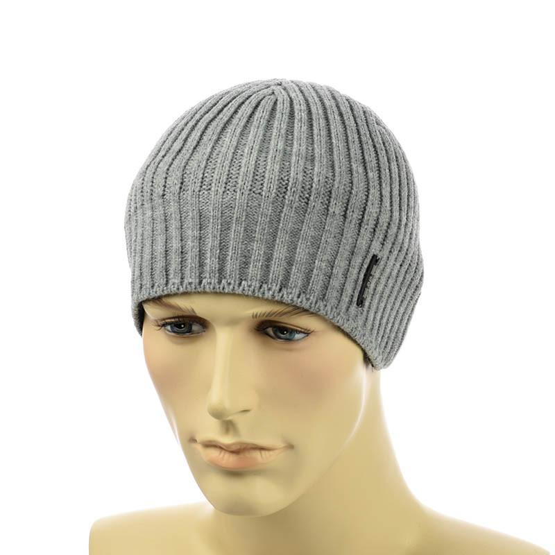 Чоловіча шапка 1*1 сірий