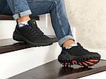Мужские зимние кроссовки Merrell (черно-синие), фото 3