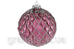 Новогодний елочный шар 10см, цвет: винный, набор шаров - 6 штук