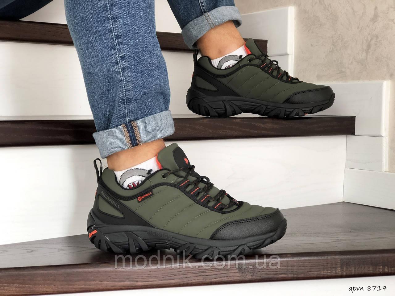 Мужские зимние кроссовки Merrell (темно-зеленые)
