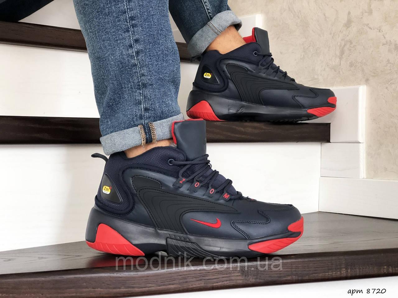 Мужские зимние ботинки Nike Zoom 2K (сине-красные)
