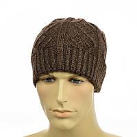 """Мужская шапка """"Alex"""" коричневый"""