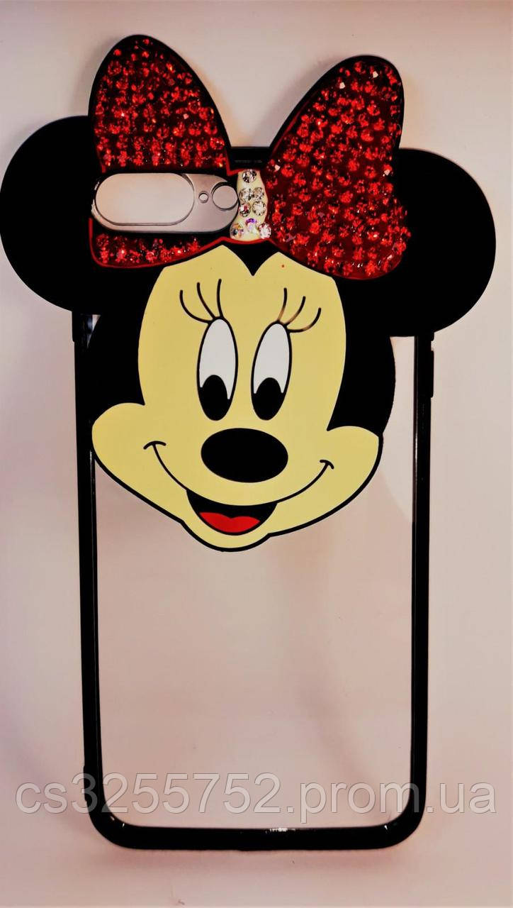 Силикон Mickey iPhone 7  Plus со стразами