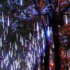 """[ОПТ] Уличная светодиодная новогодняя гирлянда """"Снегопад"""", 8 метеоров по 30 см, 2м, двухсторонняя, холодный белый, фото 5"""