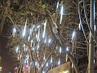 """[ОПТ] Вулична новорічна світлодіодна гірлянда """"Снігопад"""", 8 метеорів за 30 см, 2м, двостороння, холодний білий, фото 6"""