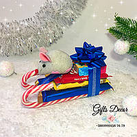 Сани из конфет / Новогодние подарки из конфет