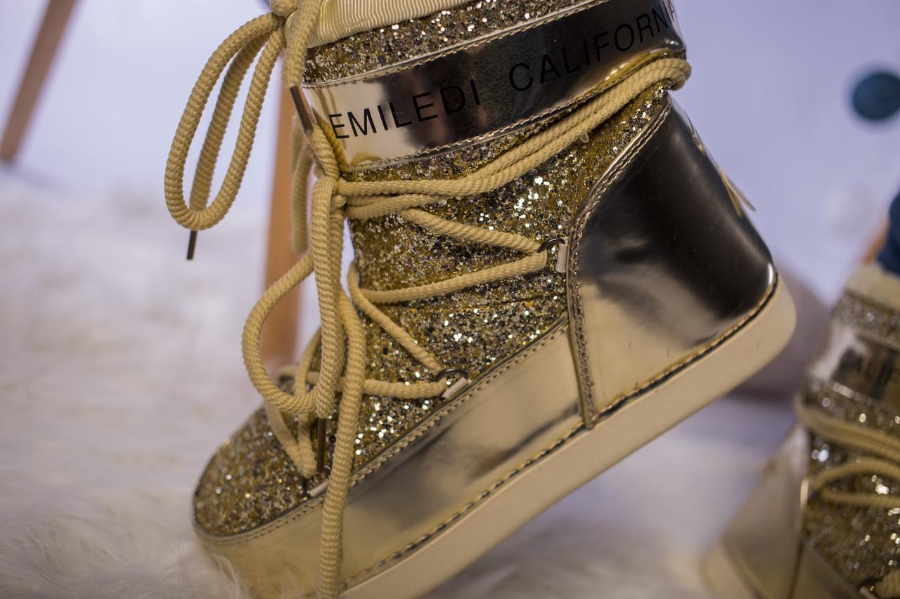 Женские Moon Boot луноходы IT TS Gold