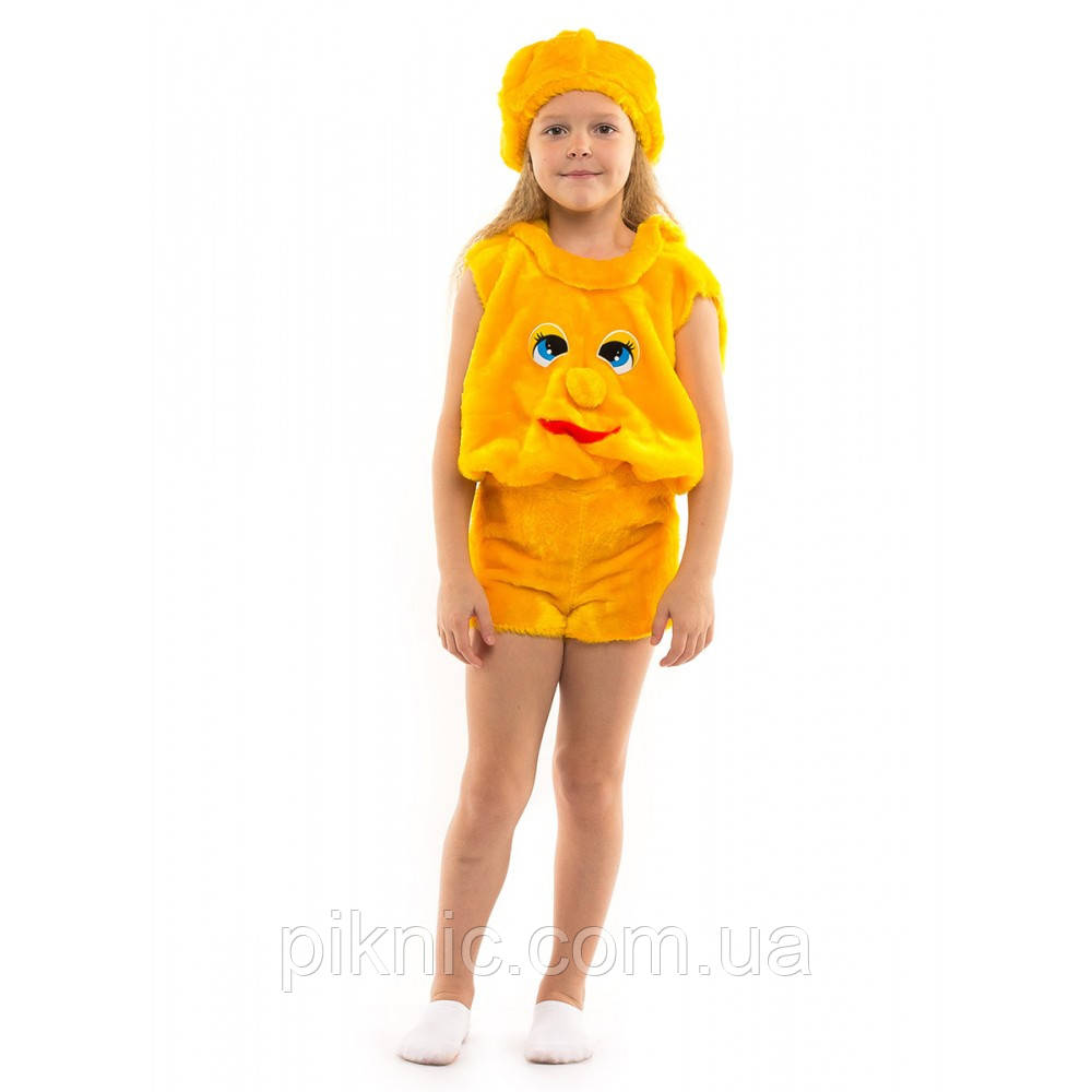 Детский карнавальный костюм Колобок для мальчиков и девочек 3,4,5,6 лет