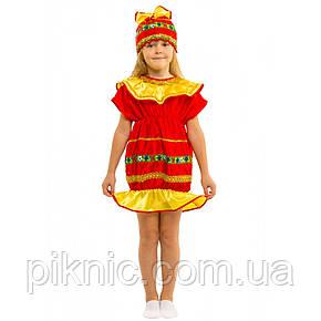 Костюм Конфетка 5-8 лет. Детский новогодний карнавальный костюм Хлопушка для девочек  344, фото 2