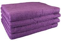 """Простынь махровая 150х200 """"Terry Lux 400"""" фиолетовый (хлопок 100%), фото 1"""