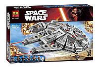 Детский конструкторBela 10467 (аналог Лего Star Wars 75105) Сокол Тысячелетия (Millennium Falcon),  670 дет