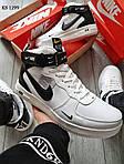 Мужские кроссовки Nike Air Force 1 07 Mid LV8 (белые/черные) ЗИМА, фото 2