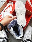 Мужские кроссовки Nike Air Force 1 07 Mid LV8 (белые/черные) ЗИМА, фото 3