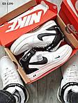 Мужские кроссовки Nike Air Force 1 07 Mid LV8 (белые/черные) ЗИМА, фото 5