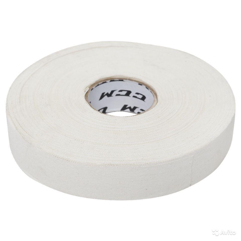 Лента хоккейная CCM TAPE CLOTH 24мм*25м White