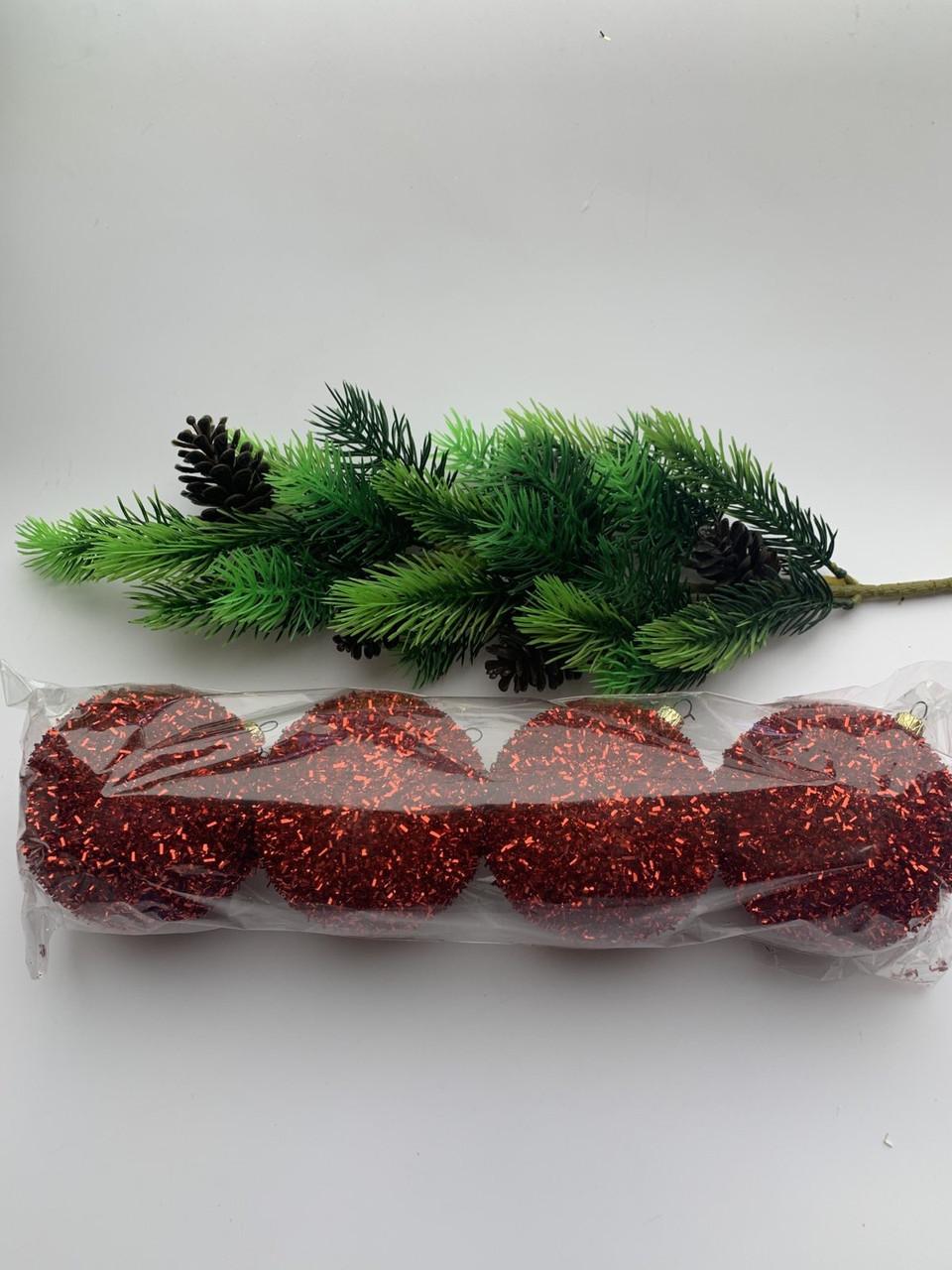 Елочные шары. Украшение новогоднее- шары на елку(4 шт)