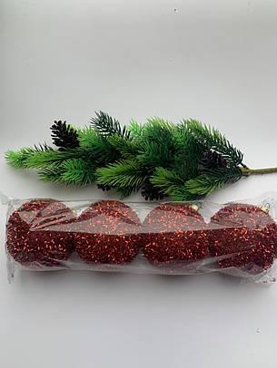 Елочные шары. Украшение новогоднее- шары на елку(4 шт), фото 2