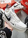 Мужские кроссовки Nike Air Force 1 07 Mid LV8 Low (белые) ЗИМА, фото 2