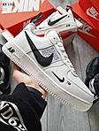 Мужские кроссовки Nike Air Force 1 07 Mid LV8 Low (белые) ЗИМА, фото 5