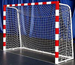 Сетка для мини-футбола D-2,5 мм, яч.12 см (футзальная, гандбольная) 2*3*0.6