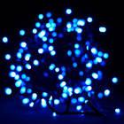 [ОПТ] Внутрення новогодняя гирлянда, синяя на черном проводе, 400LED, 28м, фото 3