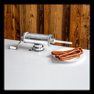 311009 Шприц колбасный Biowin ГОРИЗОНТАЛЬНЫЙ на 1,5 кг+ силиконовый поршень