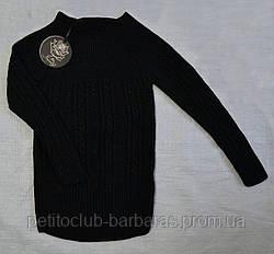 Детский cвитер с люрексом для девочки черный (р. 122 см-164 см)  (Incity, Турция)