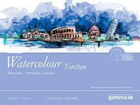 Склейка для акварели 42*56см 270г 10л 25% хлопка W2704256K10 GAMMA Watercolour Torchon Fabriano