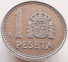 Испания 1 песета 1987