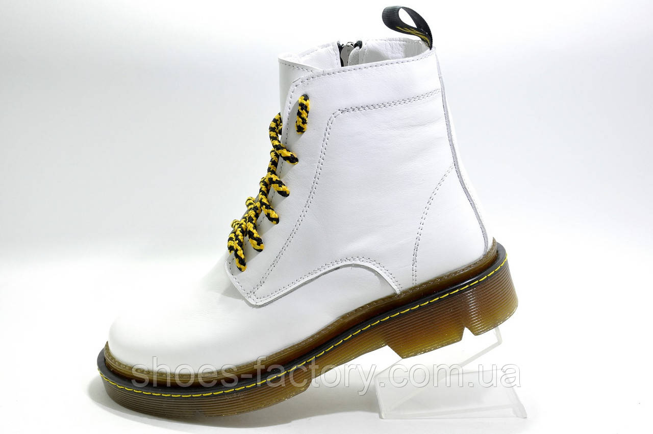 Зимние женские ботинки OFF-WHITE в натуральной коже