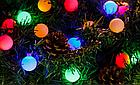 """[ОПТ] Скляна новорічна світлодіодна гірлянда """"Кульки"""", внутрішня, 40LED, 6.5 м, RGB, фото 3"""