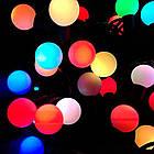 """[ОПТ] Скляна новорічна світлодіодна гірлянда """"Кульки"""", внутрішня, 40LED, 6.5 м, RGB, фото 4"""