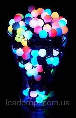 """[ОПТ] Скляна новорічна світлодіодна гірлянда """"Кульки"""", внутрішня, 40LED, 6.5 м, RGB"""