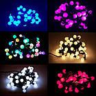 """[ОПТ] Скляна новорічна світлодіодна гірлянда """"Кульки"""", внутрішня, 40LED, 6.5 м, RGB, фото 8"""