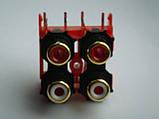 Разьем GOLD DKB1083, AL4977  RCA (тюльпаны) для djm500, 600, 700, 750, 850, 900, 2000, фото 2