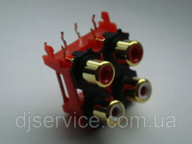 Разьем GOLD DKB1083, AL4977  RCA (тюльпаны) для djm500, 600, 700, 750, 850, 900, 2000