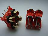 Разьем GOLD DKB1083, AL4977  RCA (тюльпаны) для djm500, 600, 700, 750, 850, 900, 2000, фото 4