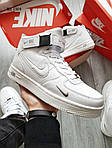 Мужские кроссовки Nike Air Force 1 07 Mid LV8 (белые) ЗИМА, фото 2