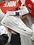 Мужские кроссовки Nike Air Force 1 07 Mid LV8 (белые) ЗИМА, фото 3