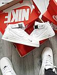Мужские кроссовки Nike Air Force 1 07 Mid LV8 (белые) ЗИМА, фото 4